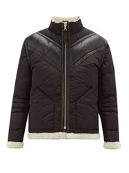 Schott Shearling Lined Technical Down Filled Jacket Black