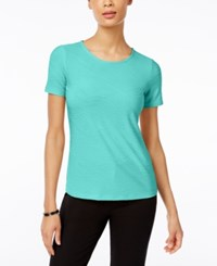 Jm Collection Jacquard T Shirt Only At Macy's Pacific Aqua