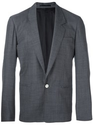 E. Tautz One Button Blazer Blue