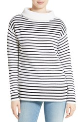 Atm Anthony Thomas Melillo Women's Stripe Turtleneck Sweater