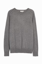 Paul And Joe Wool Mix Crew Neck Jumper Grey