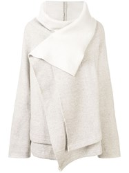 Y's Double Layered Jumper Grey
