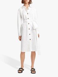 French Connection Southside Belted Dress Linen White