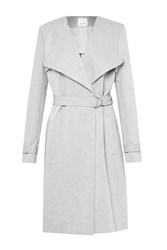 Great Plains Claudie Suiting Trench Coat Grey