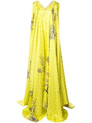 Vionnet Draped Blossom Gown Yellow And Orange