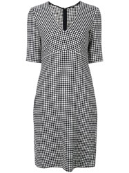 Luisa Cerano Checked Fitted Dress Black