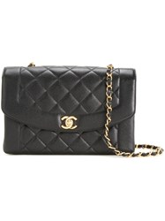 Chanel Vintage Cc Foldover Shoulder Bag Black