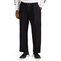Stampd Berlin Zip Detailed Pleated Trousers Black