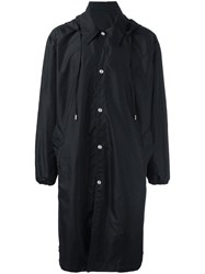 Ami Alexandre Mattiussi Long Hooded Windbreaker Black