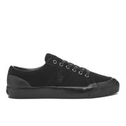 Polo Ralph Lauren Men's Ian Vintage Suede Trainers Black Grey