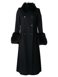 Ermanno Scervino Double Breasted Coat Black