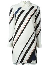 08Sircus Stripe Shirt Dress White