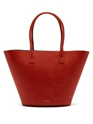 Mansur Gavriel Triangle Leather Tote Dark Orange