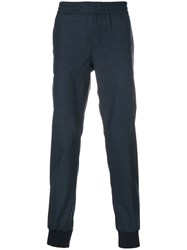 Paul Smith Ps By Casual Tailored Trousers Wool Blue