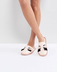 Carvela Closed Eyelash Slipper Pink