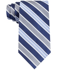Club Room New Seven Stripe Tie Navy