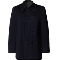 Canali Wool And Cashmere Blend Peacoat Blue
