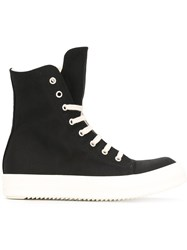 Rick Owens Drkshdw Lace Up Hi Top Sneakers Black