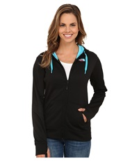 The North Face Fave Full Zip Hoodie Tnf Black Turquoise Blue Multi Women's Sweatshirt