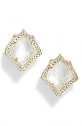 Kendra Scott Women's Kirstie Stud Earrings Ivory Mop Gold