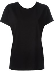 Red Valentino Tie Cross Back Boxy Fit T Shirt Black