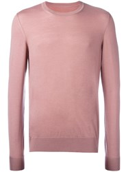 Maison Martin Margiela Crew Neck Jumper Pink Purple