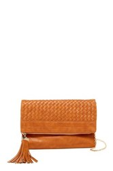 Urban Expressions Loretta Woven Clutch Brown