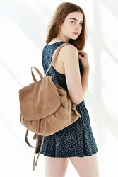 Ecote Suede Flap Mini Backpack Brown