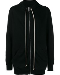 Rick Owens Cashmere Knitted Hoodie Black Silver Beige White