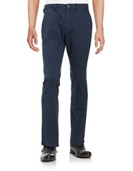 Black Brown Straight Leg Chino Pants Bright Navy