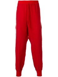 Lost And Found Rooms Loose Fit Trousers Linen Flax Red