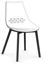 Calligaris Jam W Chair P132 Graphite Beech Wood P837 P799 White And Glossy Taupe Plastic