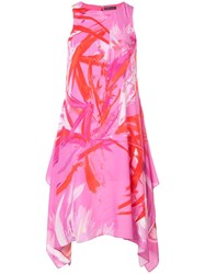 Josie Natori Prism Print Dress Pink
