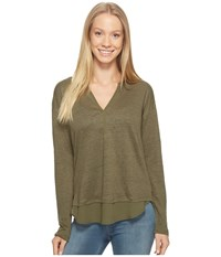Sanctuary Faraday Henley Top Fatigue Women's Clothing Green