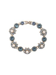 Marchesa Notte Embellished Flower Bracelet Blue