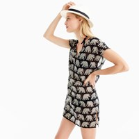 J.Crew Cotton Cover Up In Elephant Print