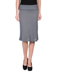 Siyu Knee Length Skirts Grey