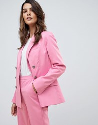Asos Design Tailored High Break Suit Blazer Pink