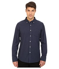 Obey Adams Woven Top Heather Navy Men's Long Sleeve Button Up