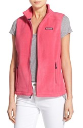 Women's Vineyard Vines 'Westerly' Fleece Vest Rhododendron