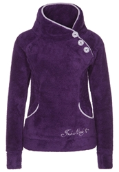 Fresh Made Fleece Jumper Grape Violet Purple