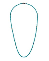 Armenta Old World Midnight Magnesite Bead Necklace With Diamonds Turquoise
