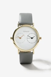 Topshop Multi Dial Small Watch Grey