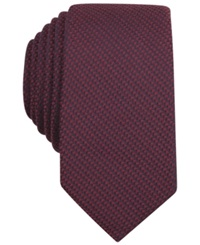 Bar Iii Carnaby Collection Solid Knit Skinny Tie Burgundy