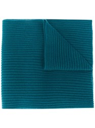 N.Peal Short Ribbed Cashmere Scarf 60