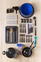 Urban Outfitters Total Kitchen 59 Piece Set Black