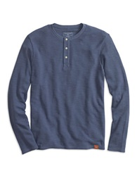 Dockers Slim Fit Alpha Waffle Knit Henley Blue