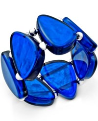 Styleandco. Style And Co. Silver Tone Blue Shell Bracelet