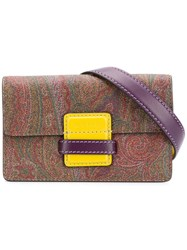 Etro Paisley Rainbow Belt Bag Brown