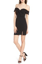 Speechless 'S Off The Shoulder Body Con Dress Black